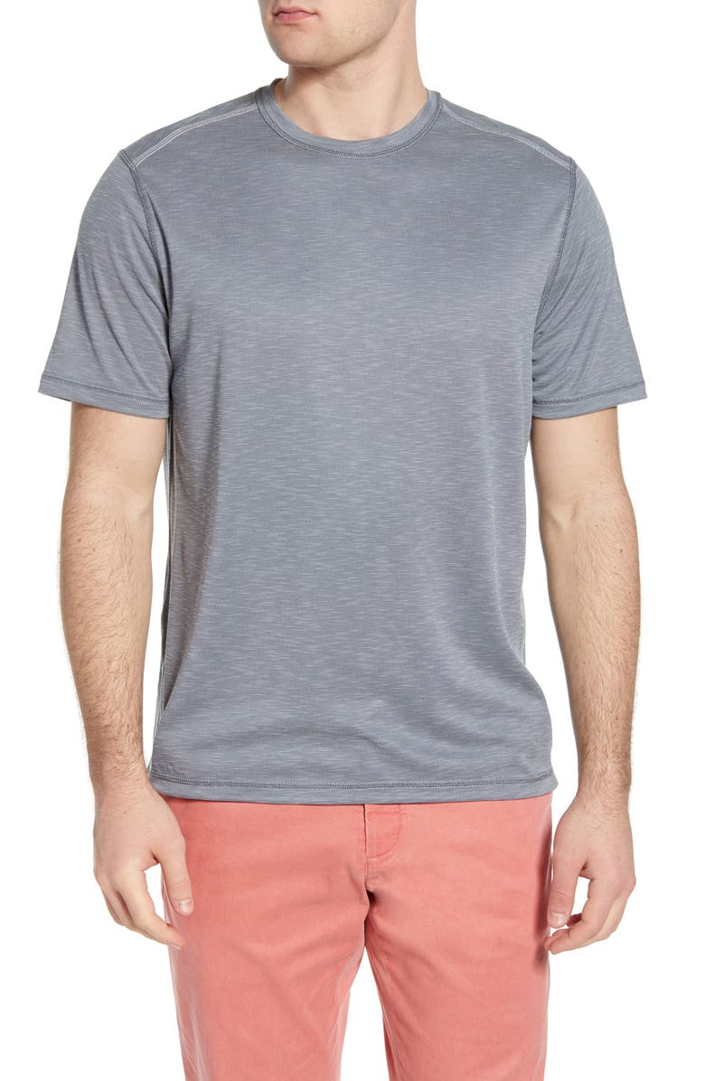TOMMY BAHAMA Flip Tide Reversible Performance T-Shirt, Main, color, DK PEWTER