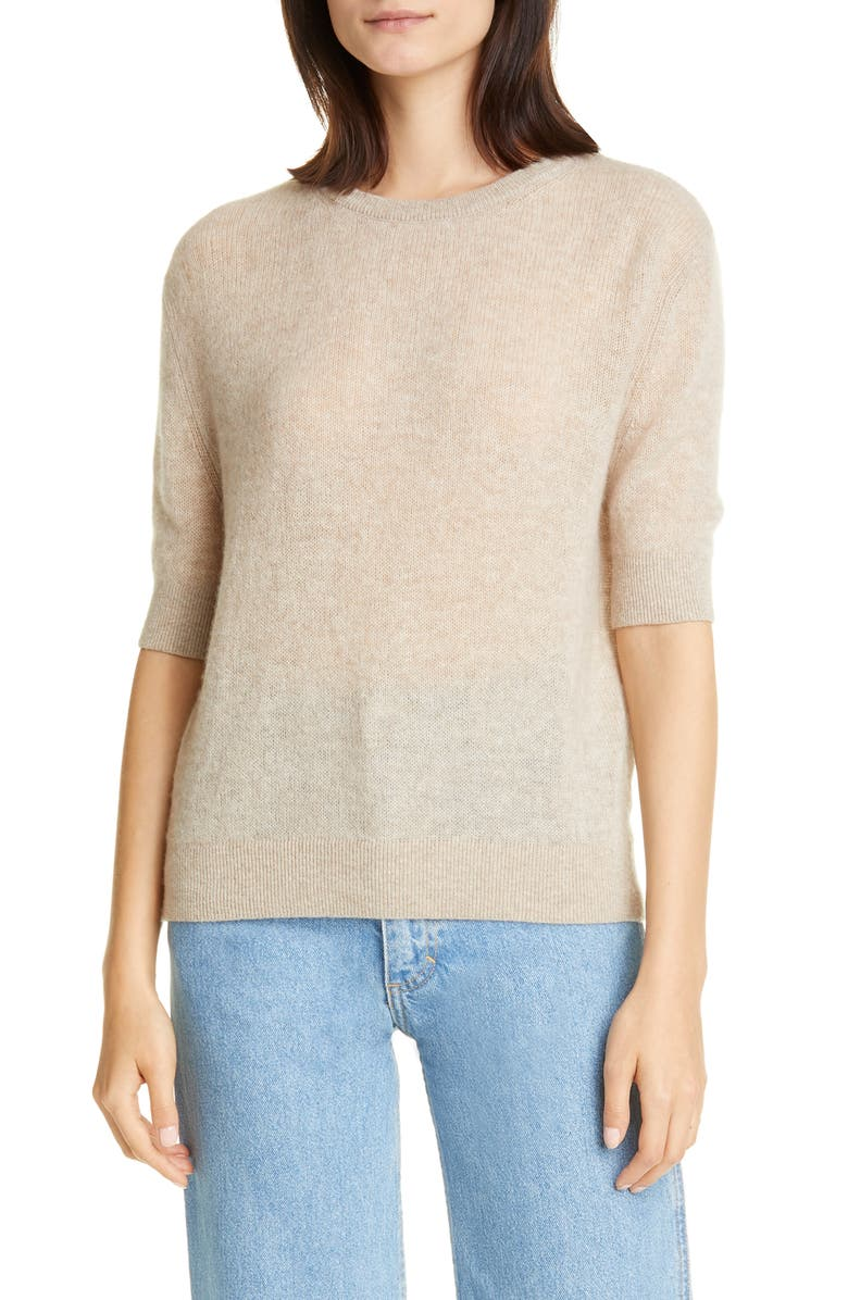 KHAITE Dianna Cashmere Sweater, Main, color, POWDER