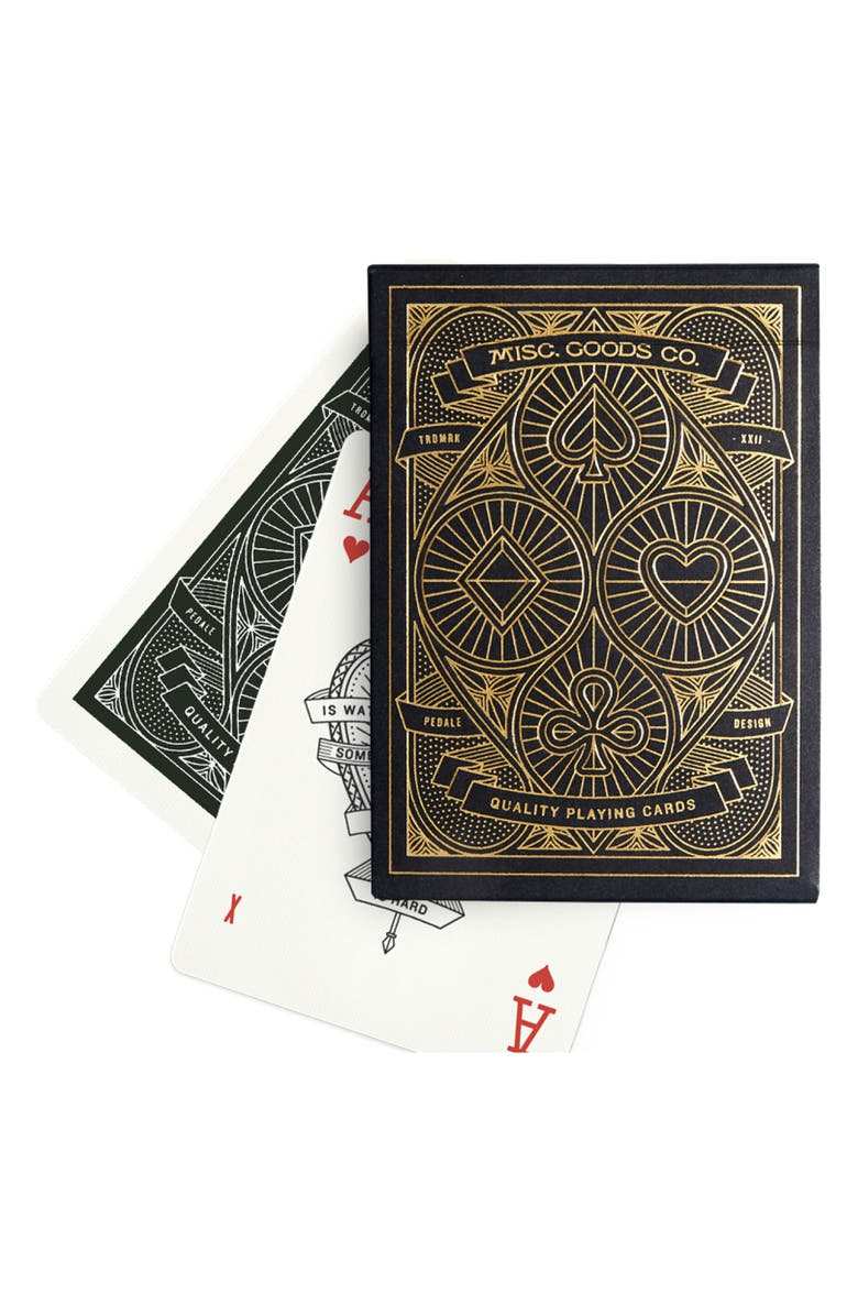MISC. GOODS CO. Black Playing Cards Deck, Main, color, BLACK