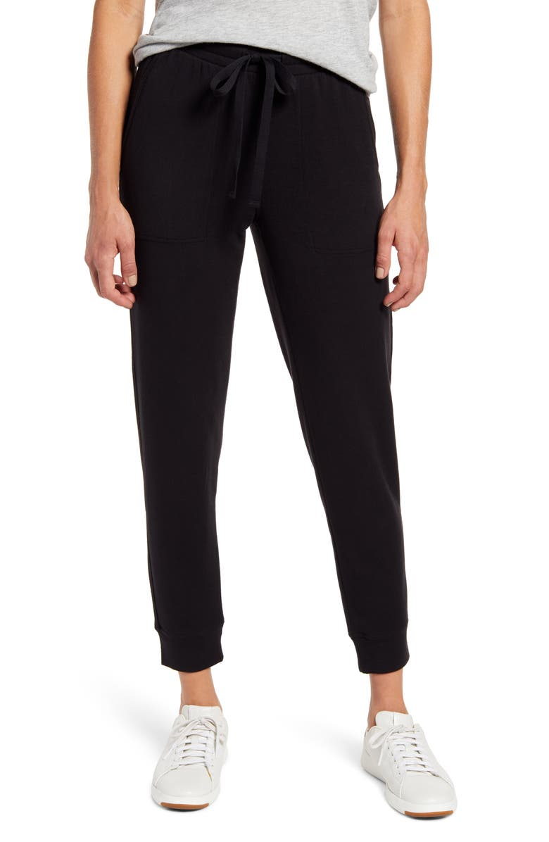 LOU & GREY Signaturesoft Sweatpants, Main, color, BLACK