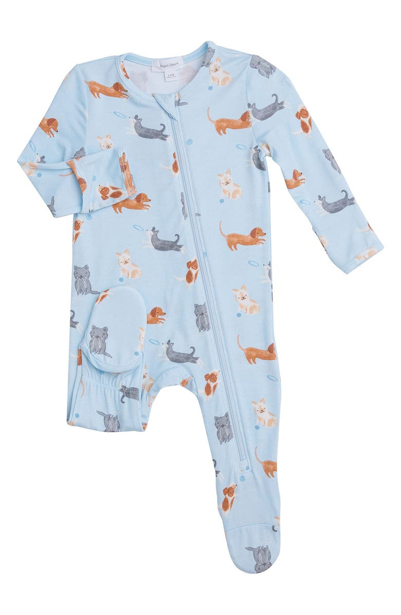 ANGEL DEAR Puppy Play Footie, Main, color, BLUE