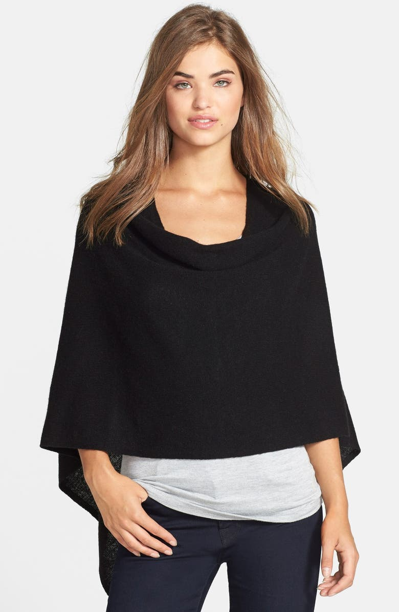 IN CASHMERE Convertible Cashmere Poncho, Main, color, 001