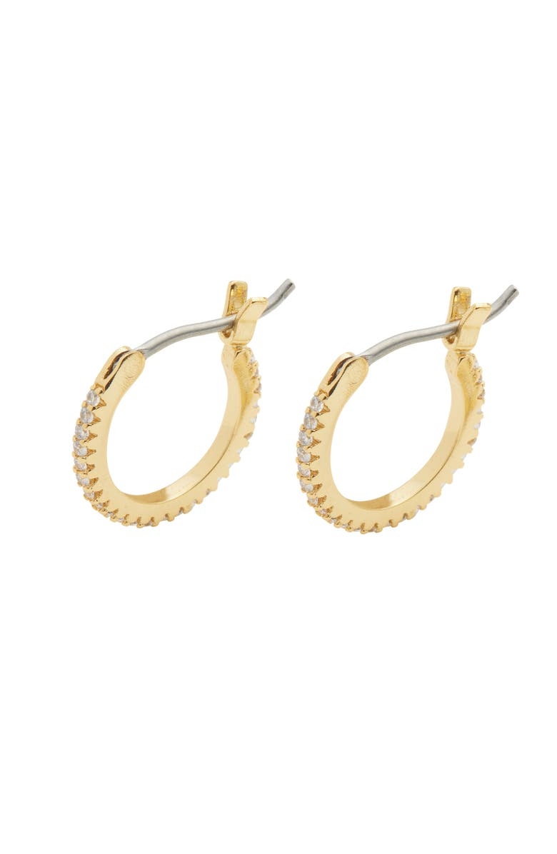GORJANA Shimmer Huggie Hoop Earrings, Main, color, GOLD