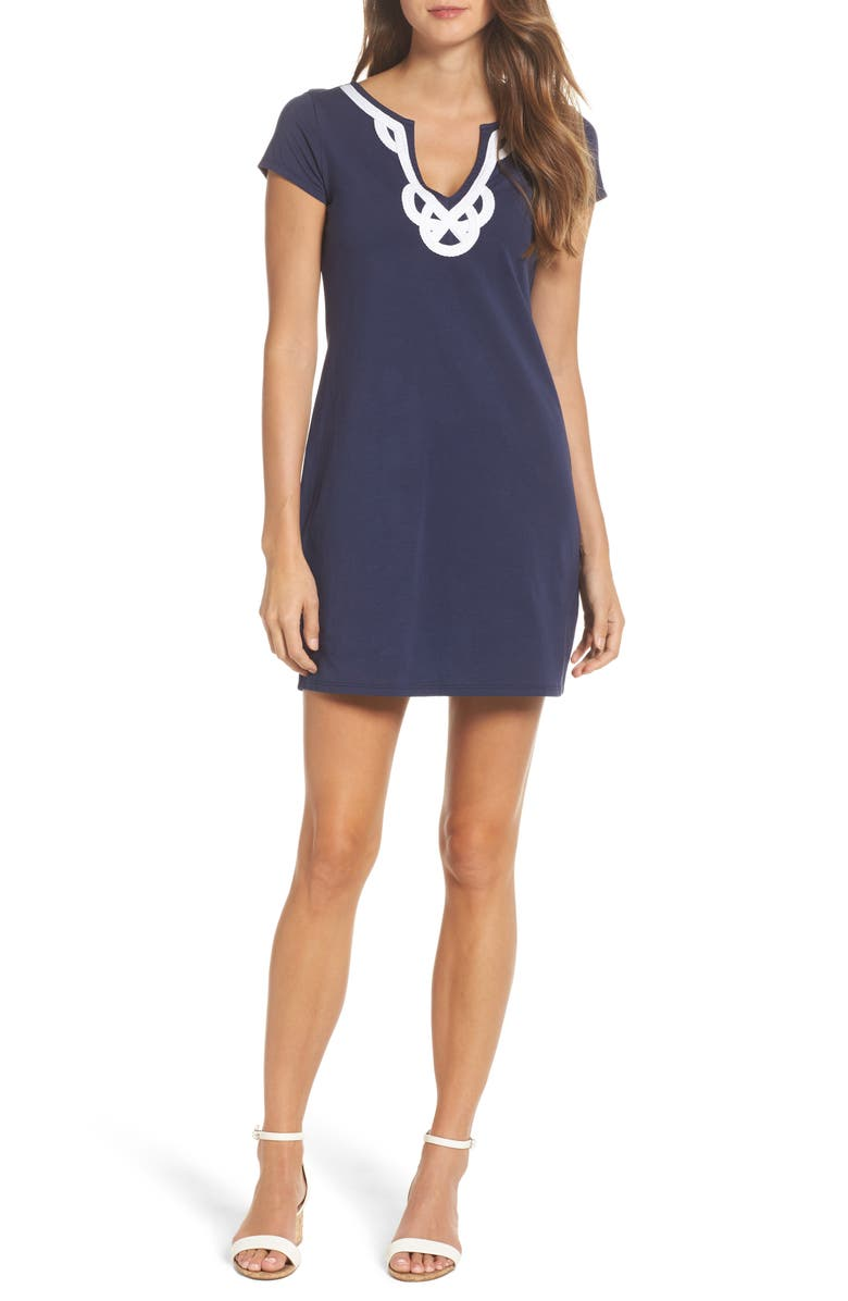 LILLY PULITZER<SUP>®</SUP> Brewster T-Shirt Dress, Main, color, TRUE NAVY