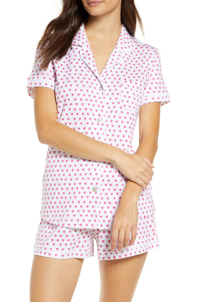 ROLLER RABBIT Heart Short Pajamas, Main, color, Pink