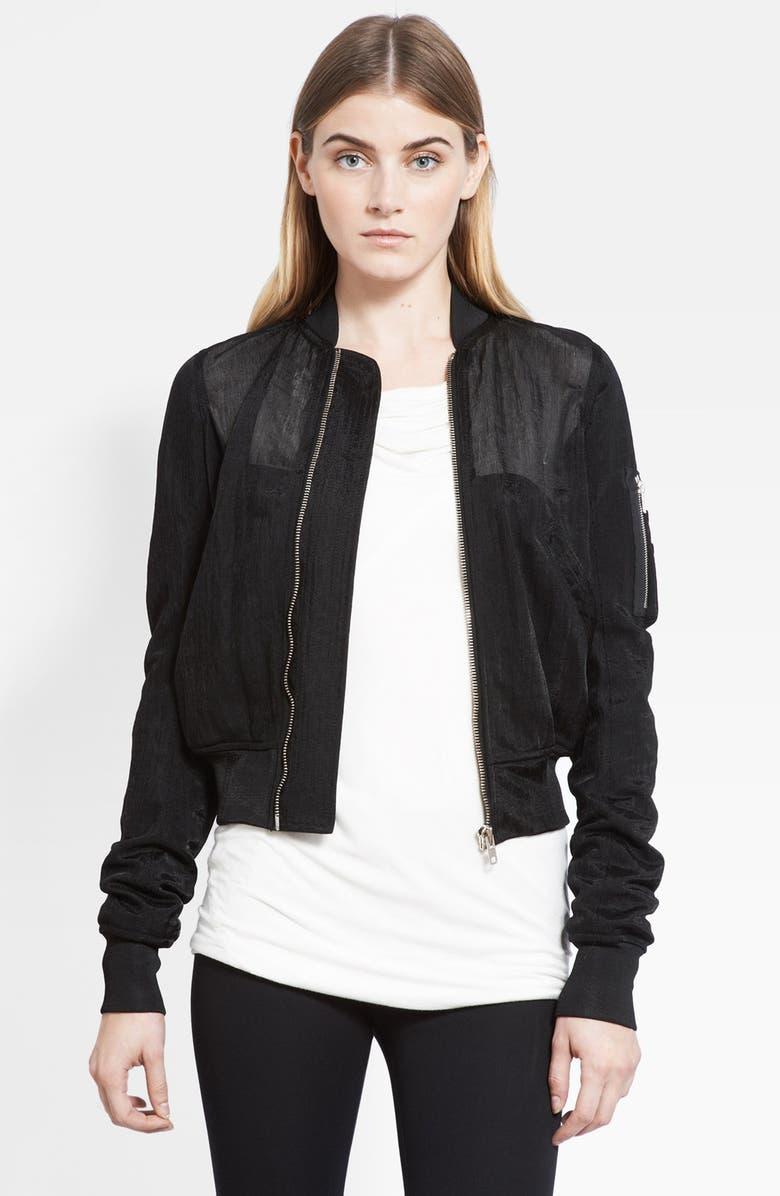 RICK OWENS Bomber Jacket, Main, color, 001