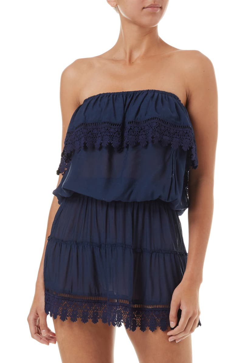 MELISSA ODABASH Joy Cover-Up Dress, Main, color, NAVY