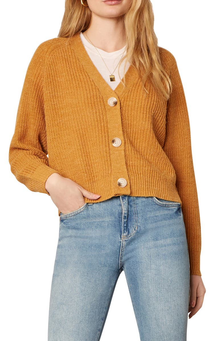 CUPCAKES AND CASHMERE Swift Cardigan, Main, color, TUMERIC