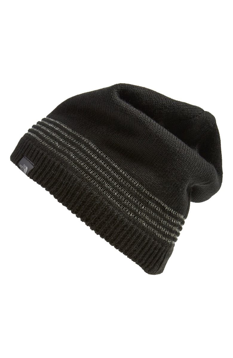 THE NORTH FACE 'Night Light' Beanie, Main, color, 001