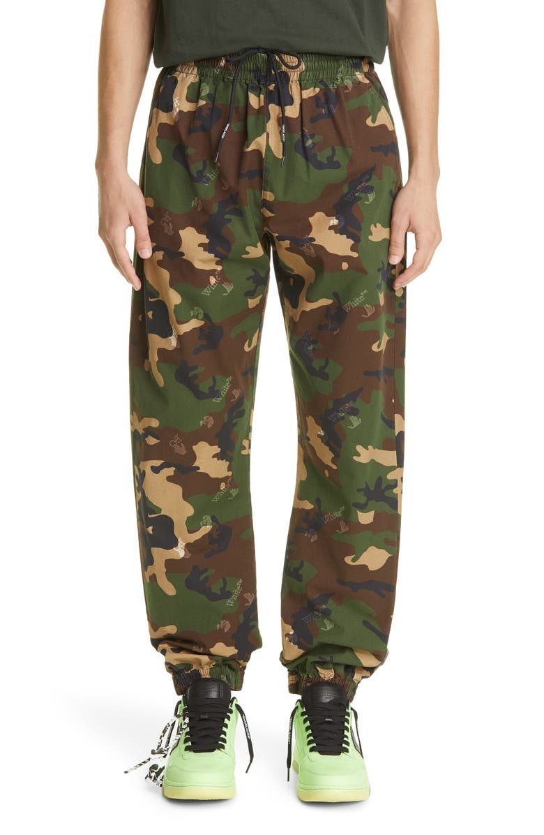 OFF-WHITE Men's Logo Camo Joggers, Main, color, CAMO