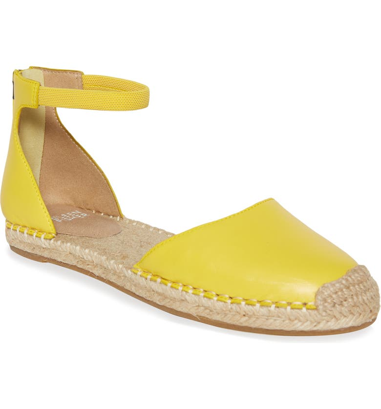 EILEEN FISHER Lala Espadrille Flat, Main, color, YELLOW LEATHER