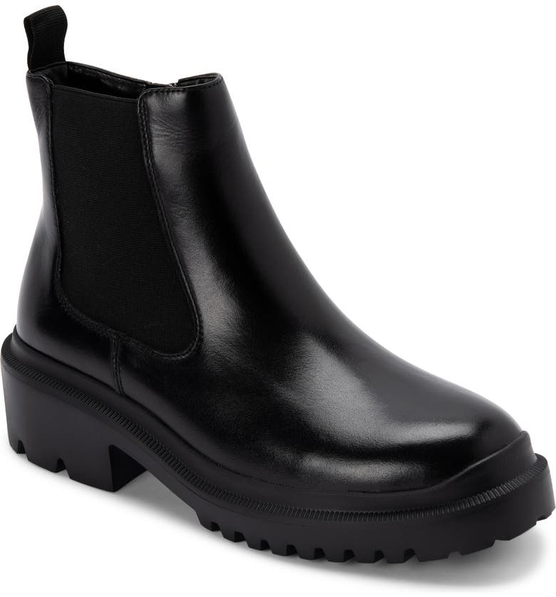 BLONDO Cayla Waterproof Chelsea Boot, Main, color, BLACK LEATHER