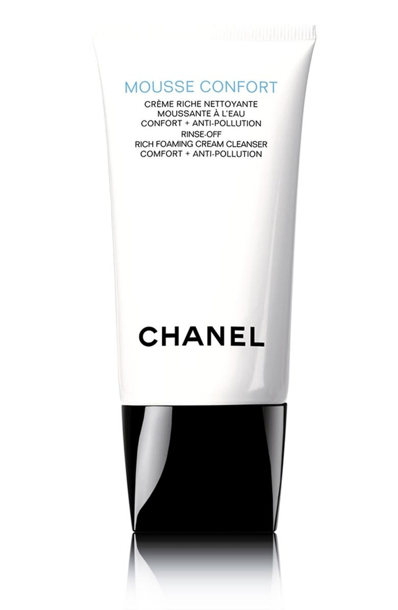 CHANEL MOUSSE CONFORT <br />Rinse-Off Rich Foaming Cream Cleanser, Main, color, 000