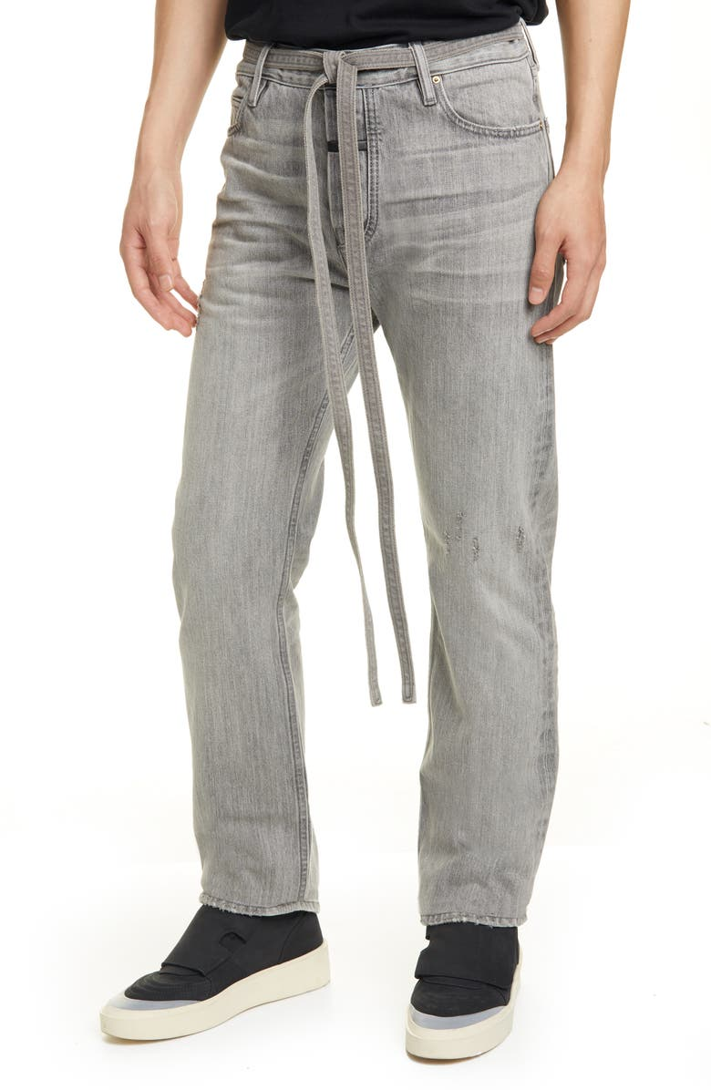 FEAR OF GOD Tie Waist Relaxed Fit Jeans, Main, color, 031
