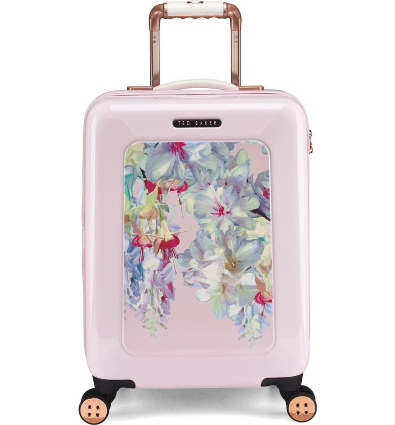 TED BAKER LONDON Small Hanging Gardens Four Wheel Suitcase, Main, color, Pink