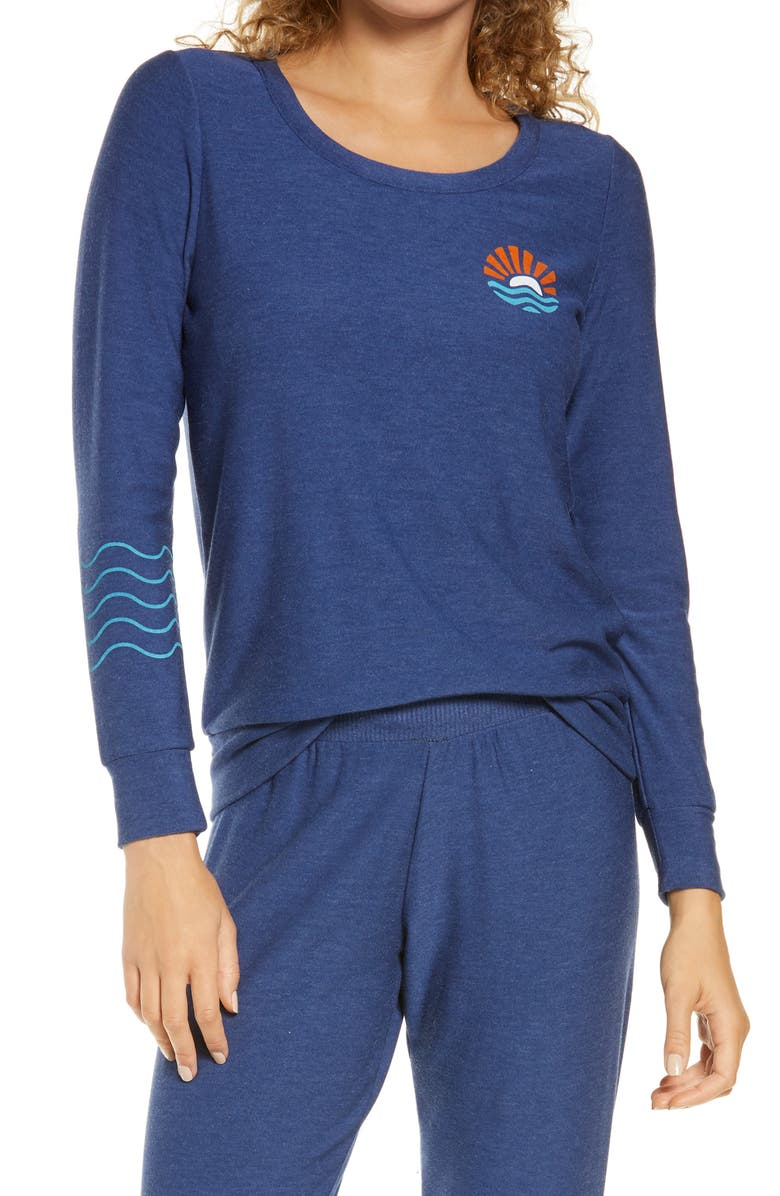 CHASER Sunshine & Waves Graphic Pullover, Main, color, 400