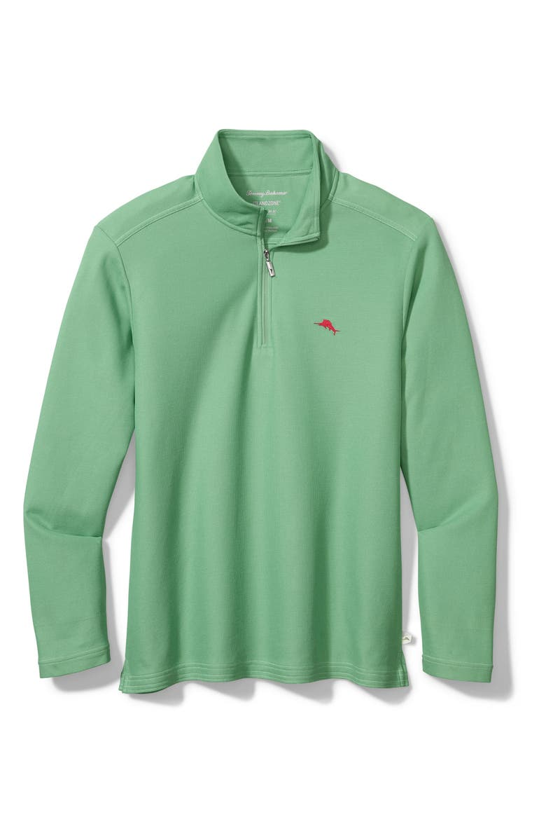 TOMMY BAHAMA Emfielder 2.0 IslandZone<sup>®</sup> Quarter Zip Performance Pullover, Main, color, SPRING POOL