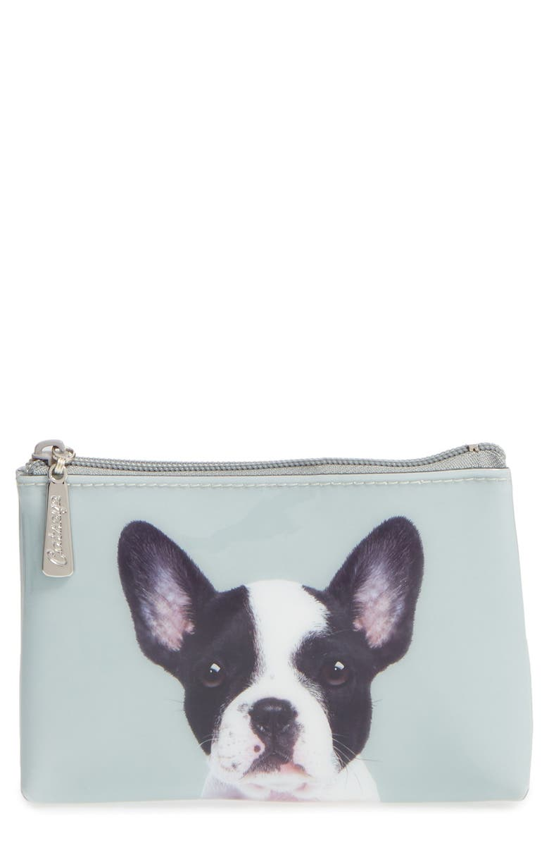 CATSEYE LONDON Small Boston Terrier Zip Pouch, Main, color, 300