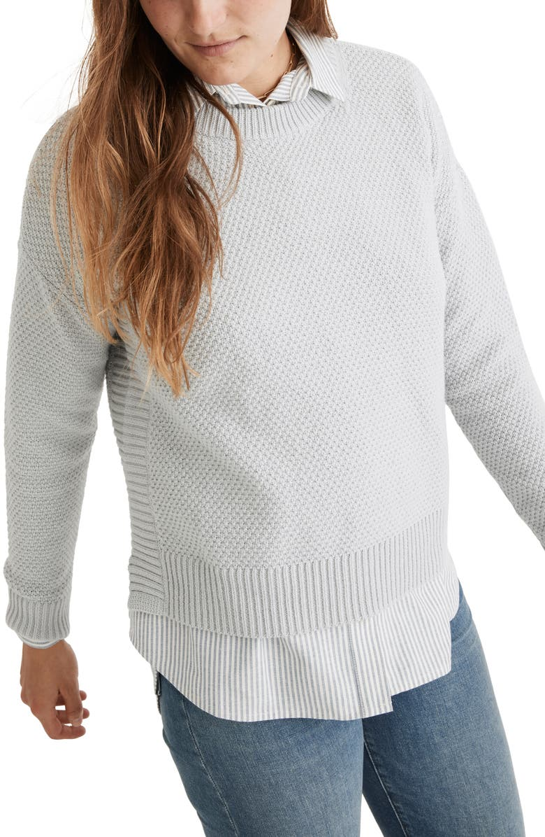 MADEWELL Pickford Pullover Sweater, Main, color, COOL FOG