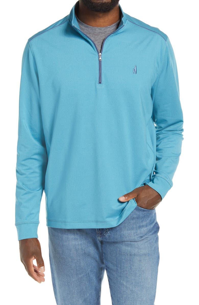 JOHNNIE-O Lammie Half Zip Pullover, Main, color, SCUBA