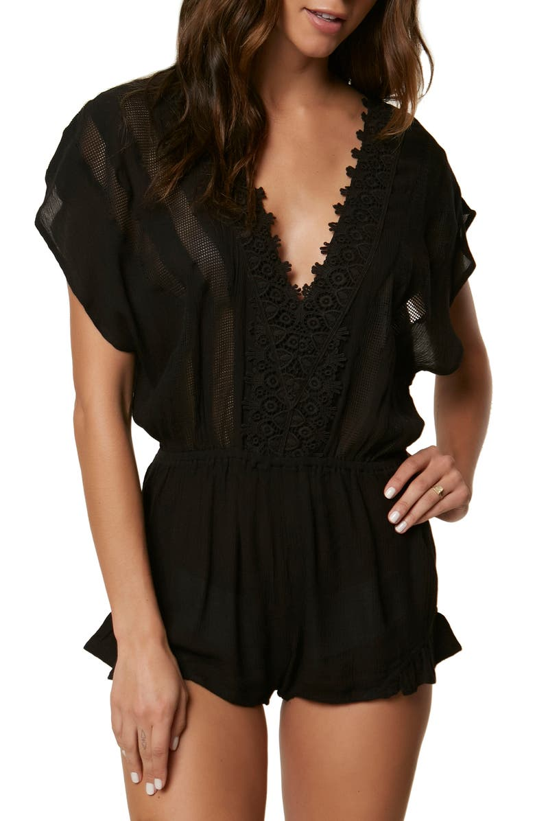 O'NEILL Shay Romper Cover-Up, Main, color, 001