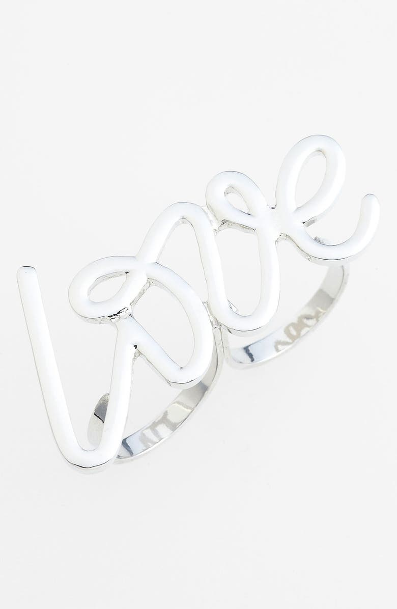 SPRING STREET 'Love' Double Ring, Main, color, 040