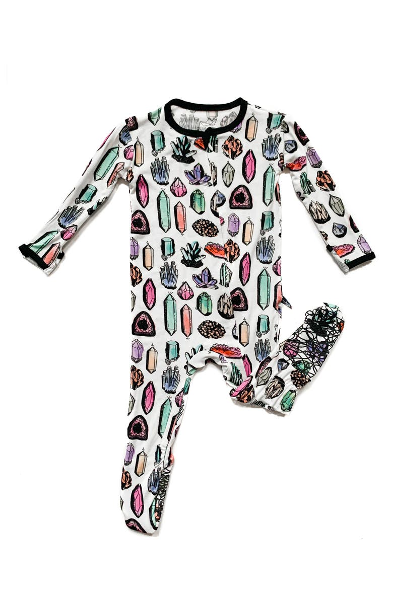 PEREGRINE KIDSWEAR Crystals Fitted One-Piece Pajamas, Main, color, MULTI