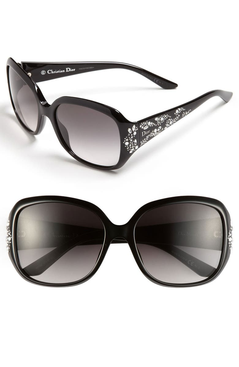DIOR 'Minuit' 57mm Sunglasses, Main, color, 001