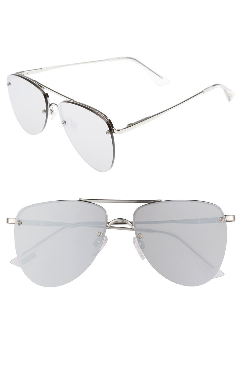 LE SPECS The Prince 57mm Aviator Sunglasses, Main, color, 040