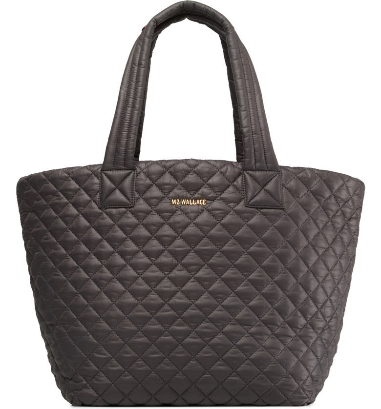 MZ WALLACE Medium Metro Quilted Nylon Tote, Main, color, MAGNET/ MAGNET
