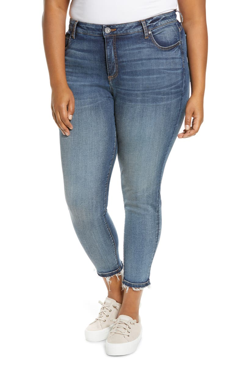 KUT FROM THE KLOTH Donna High Waist Ankle Skinny Jeans, Main, color, ASTER