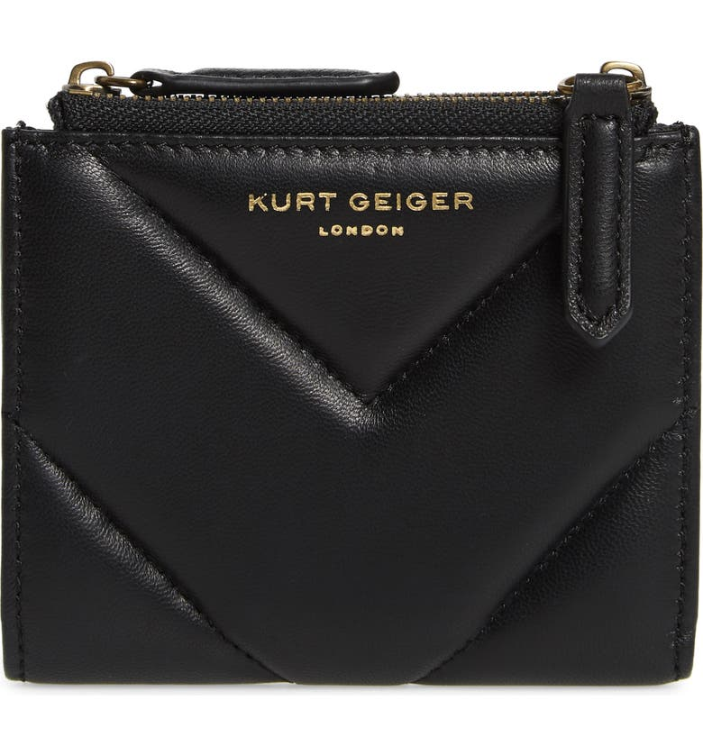 KURT GEIGER LONDON Mini Leather Clutch, Main, color, BLACK
