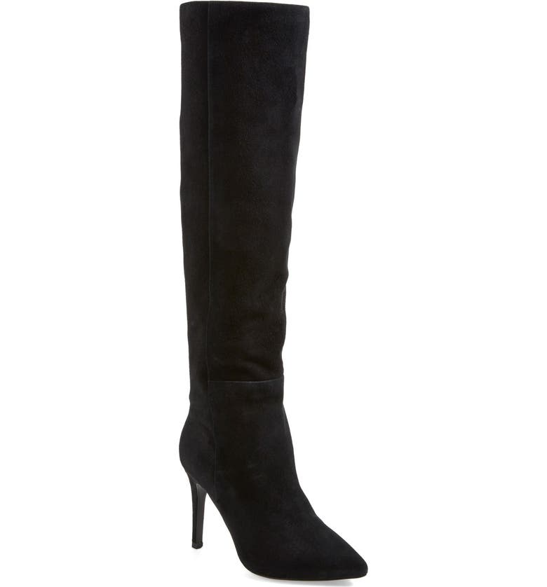 JOIE 'Olivia' Suede Over the Knee Boot, Main, color, 001