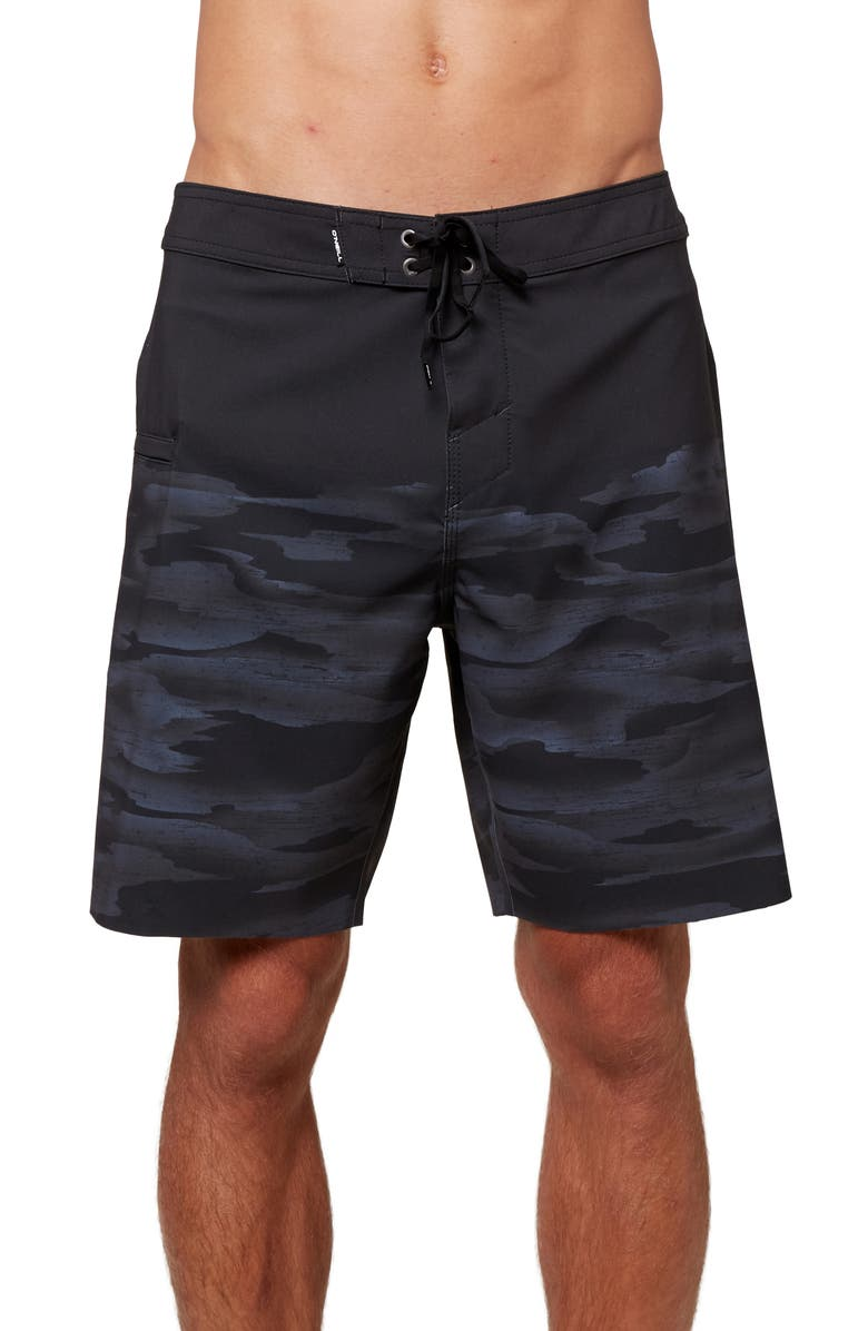 O'NEILL Hyperfreak Nomad Packable Board Shorts, Main, color, Black