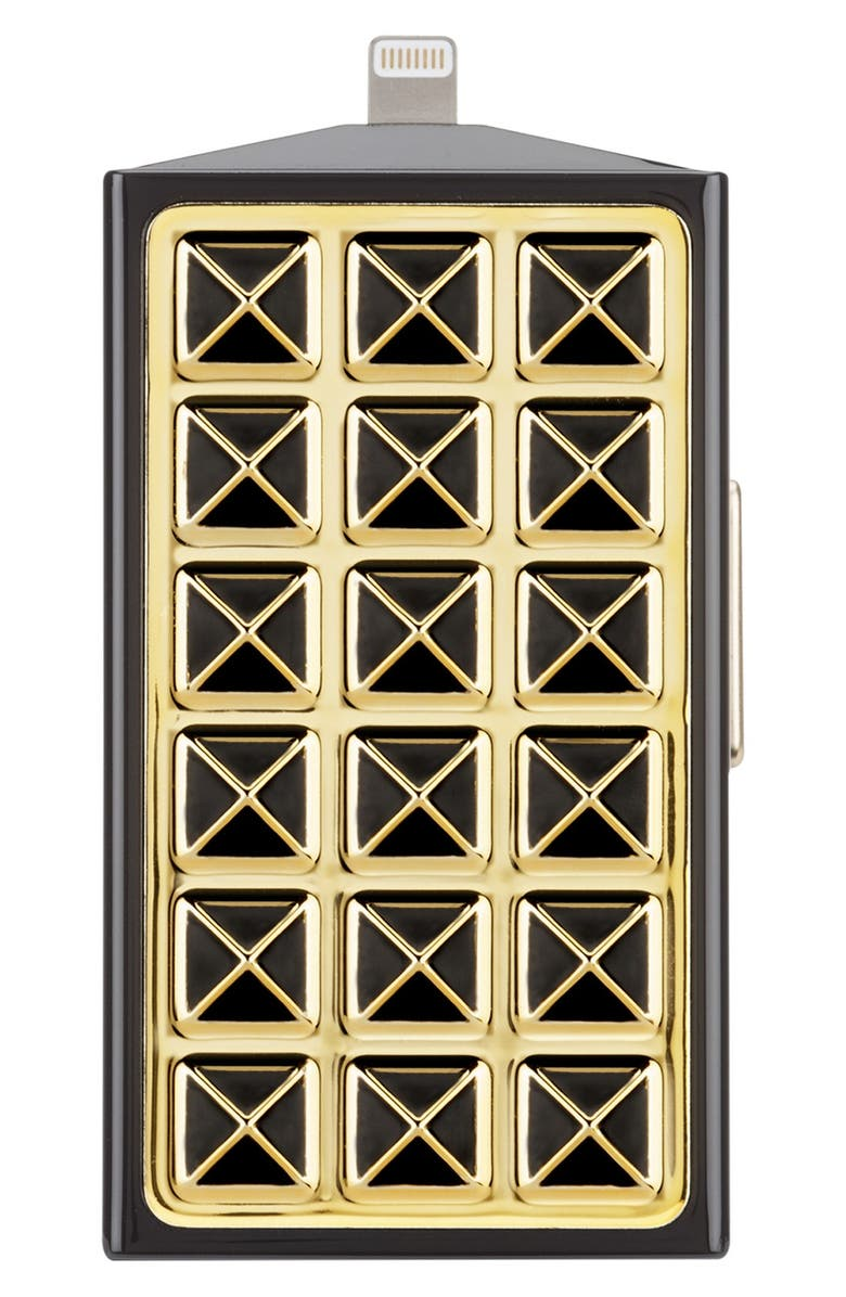 REBECCA MINKOFF Case Mate<sup>®</sup> Studded Mobile Charger, Main, color, BLACK/ GOLD STUDDED