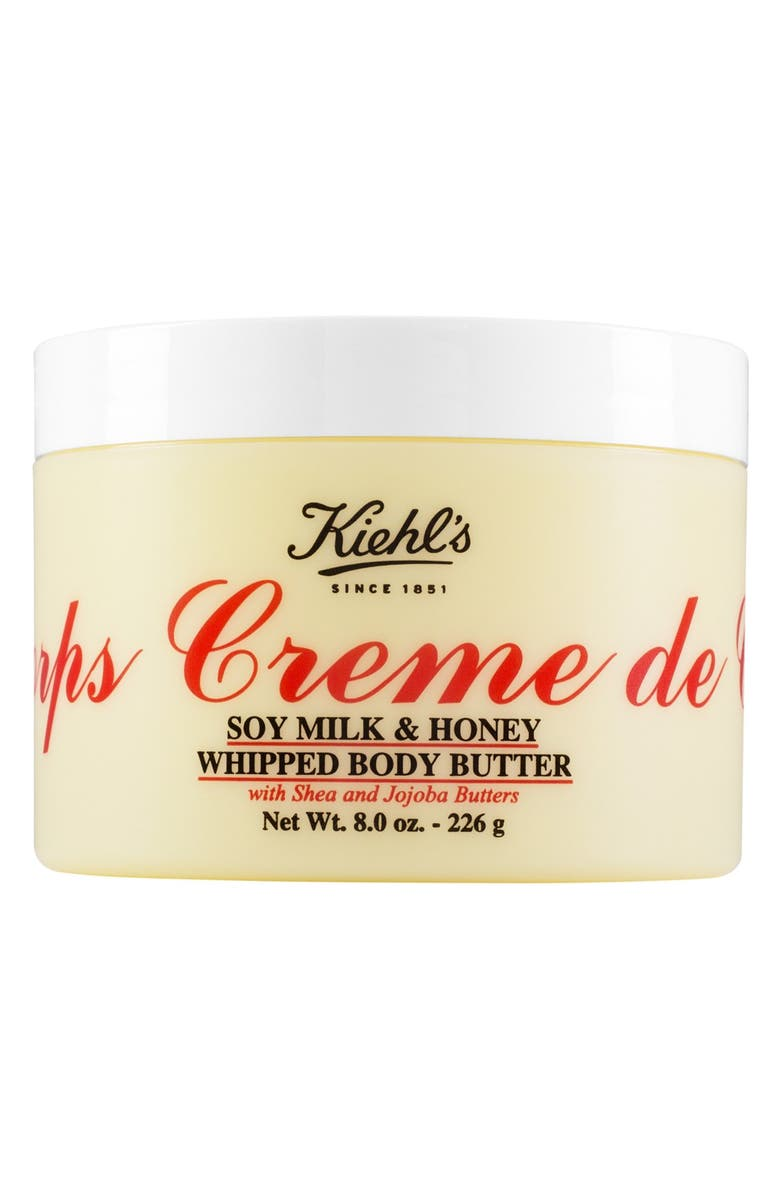 KIEHL'S SINCE 1851 Creme de Corps Soy Milk & Honey Whipped Body Butter, Main, color, NO COLOR