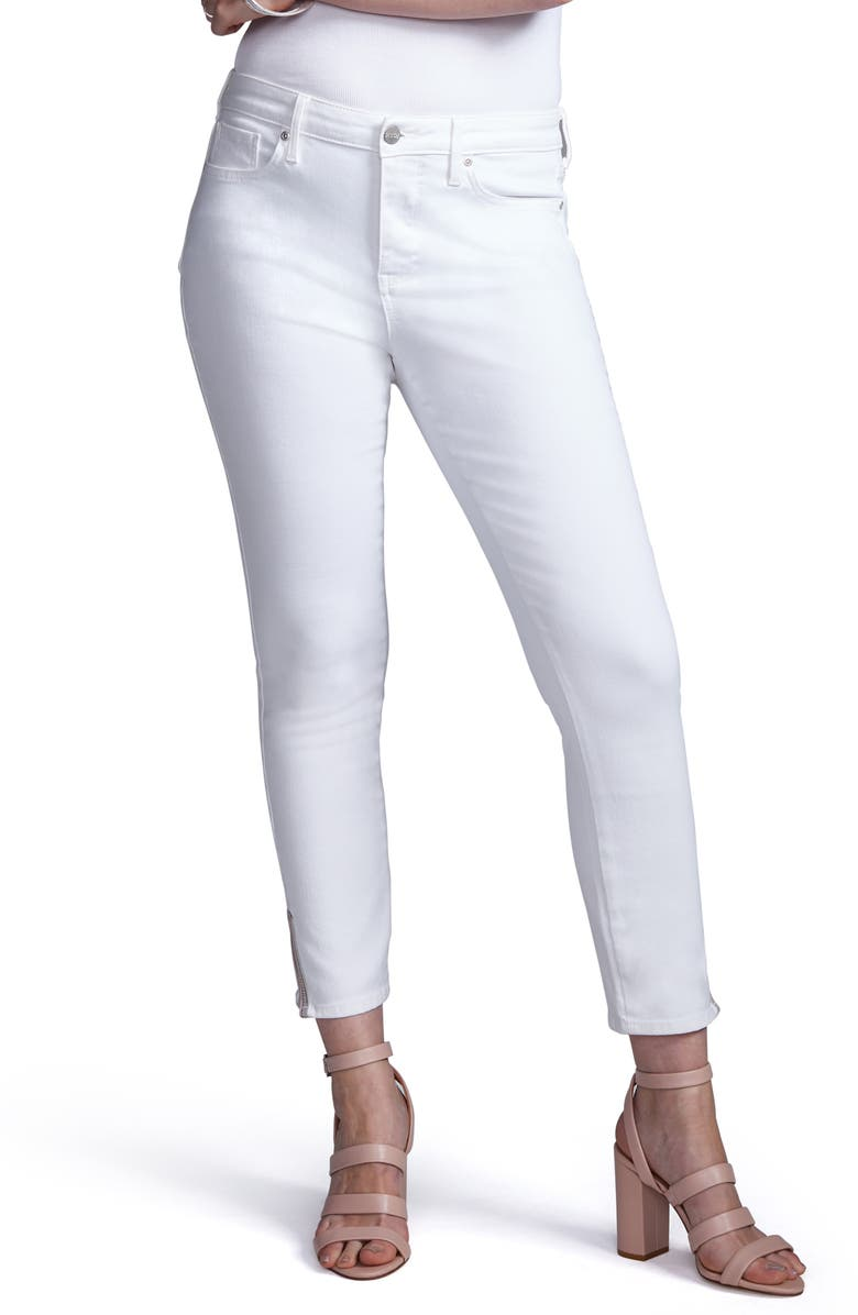 CURVES 360 BY NYDJ Slit Detail Skinny Ankle Jeans, Main, color, 103