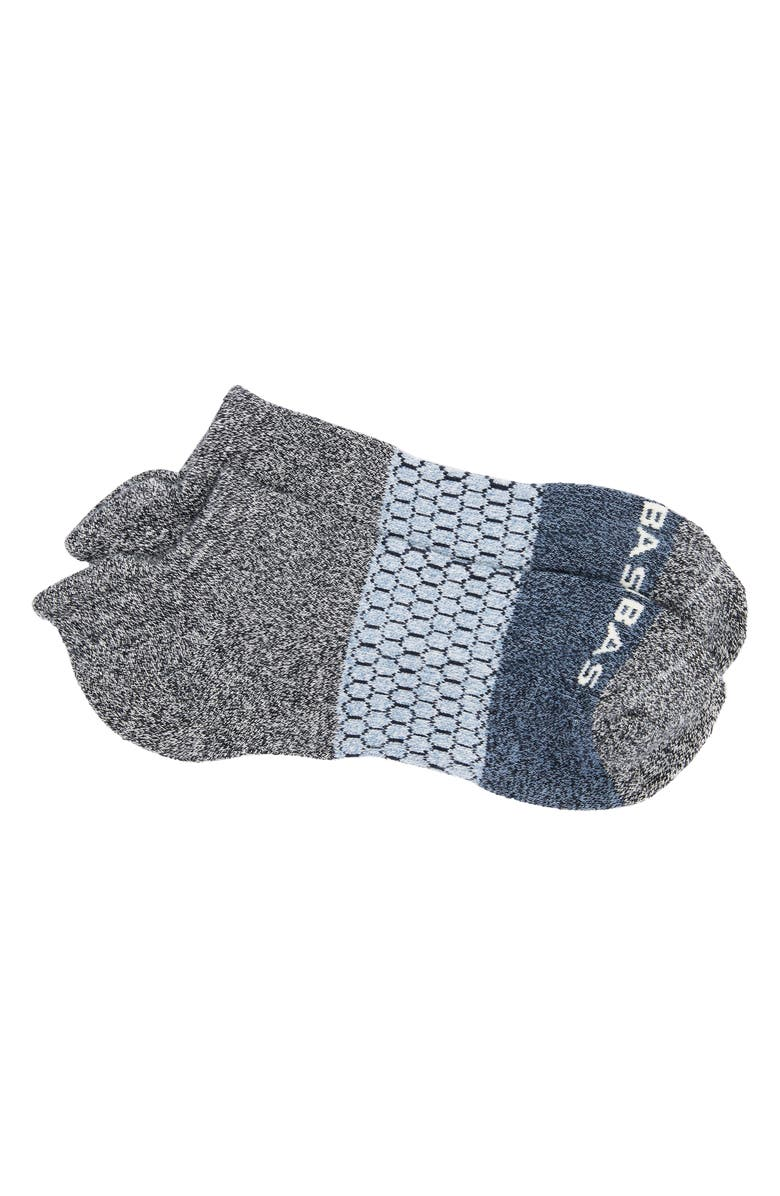 BOMBAS Colorblock Ankle Socks, Main, color, MIDNIGHT/ SOFT BLUE/ GREY