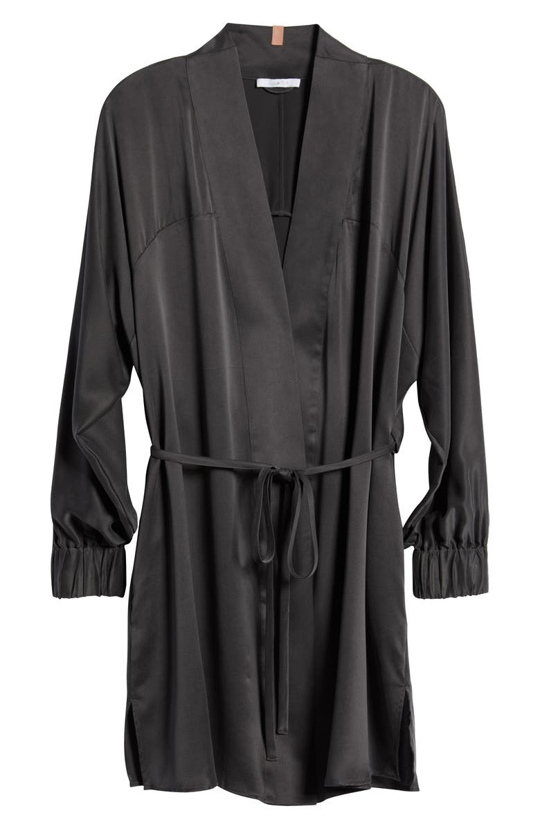 LUNYA Washable Silk Robe, Main, color, MEDITATIVE GREY