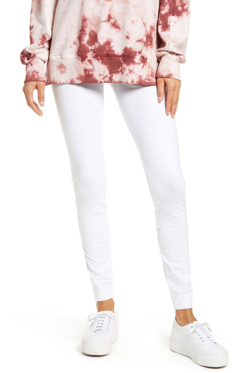 LYSSÉ Flattering Leggings, Main, color, WHITE