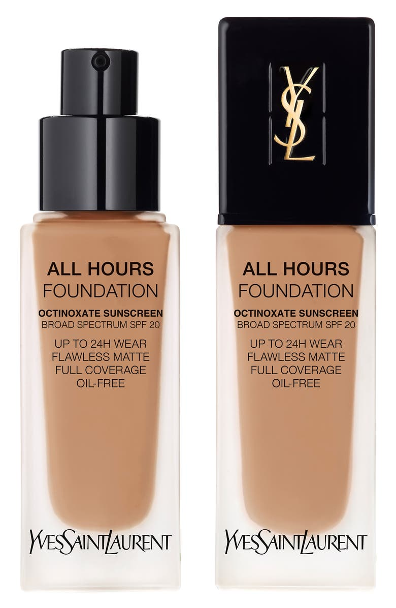 YVES SAINT LAURENT All Hours Full Coverage Matte Foundation Broad Spectrum SPF 20, Main, color, BR65 COOL COPPER