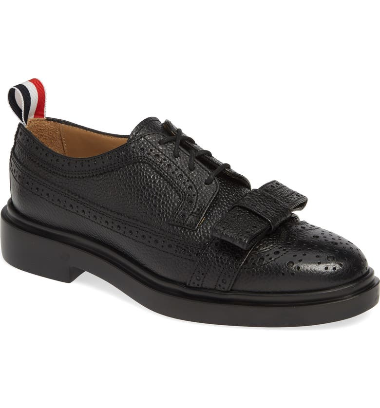 THOM BROWNE Bow Brogued Oxford, Main, color, 001