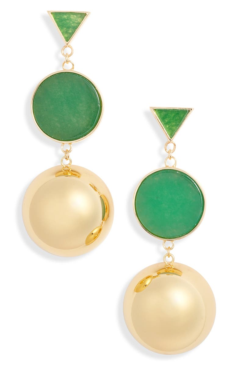 KATE SPADE NEW YORK modern icon double drop earrings, Main, color, 300