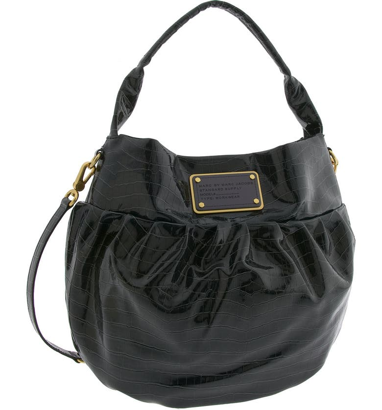 MARC BY MARC JACOBS 'Croc of Q - Lil Riz' Hobo, Main, color, 021