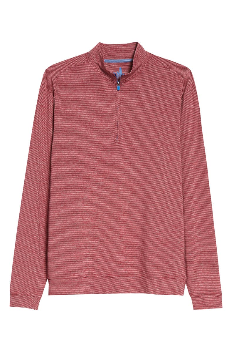 JOHNNIE-O Vaughn Classic Fit Quarter Zip Performance Pullover, Main, color, RED