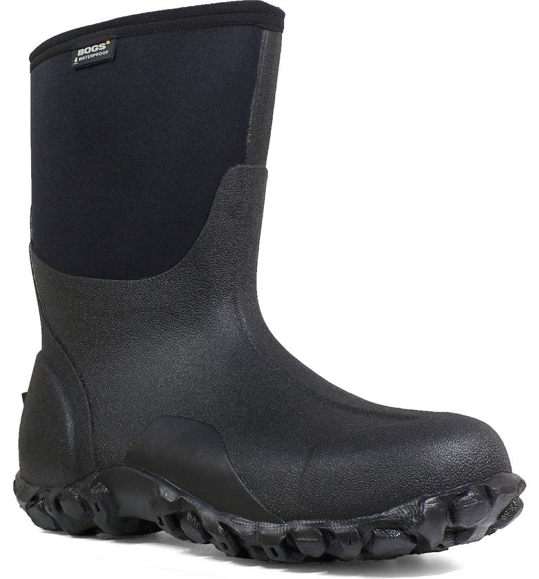 BOGS Classic Mid Waterproof Insulated Work Boot, Main, color, BLACK