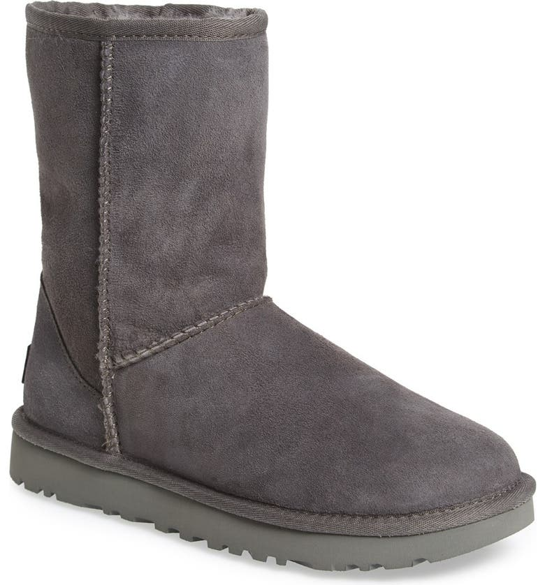 UGG<SUP>®</SUP> Classic II Genuine Shearling Lined Short Boot, Main, color, GREY SUEDE