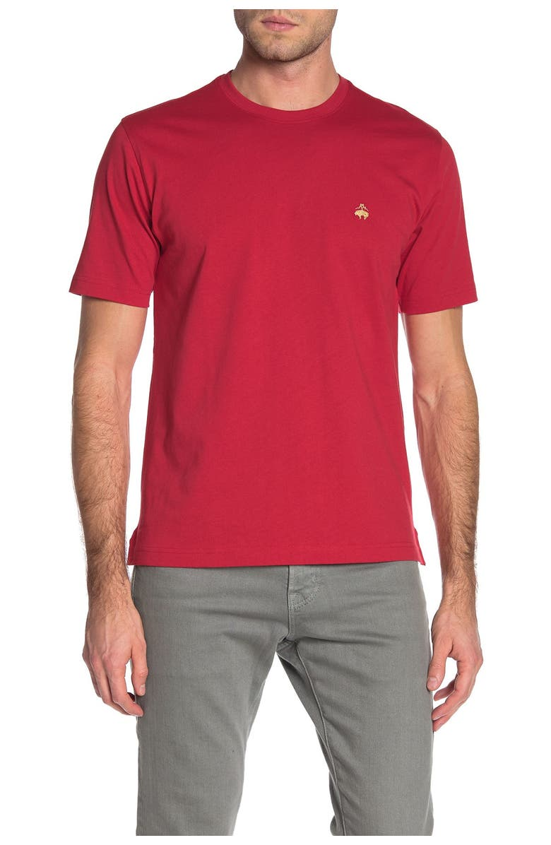BROOKS BROTHERS Short Sleeve T-Shirt, Main, color, RED