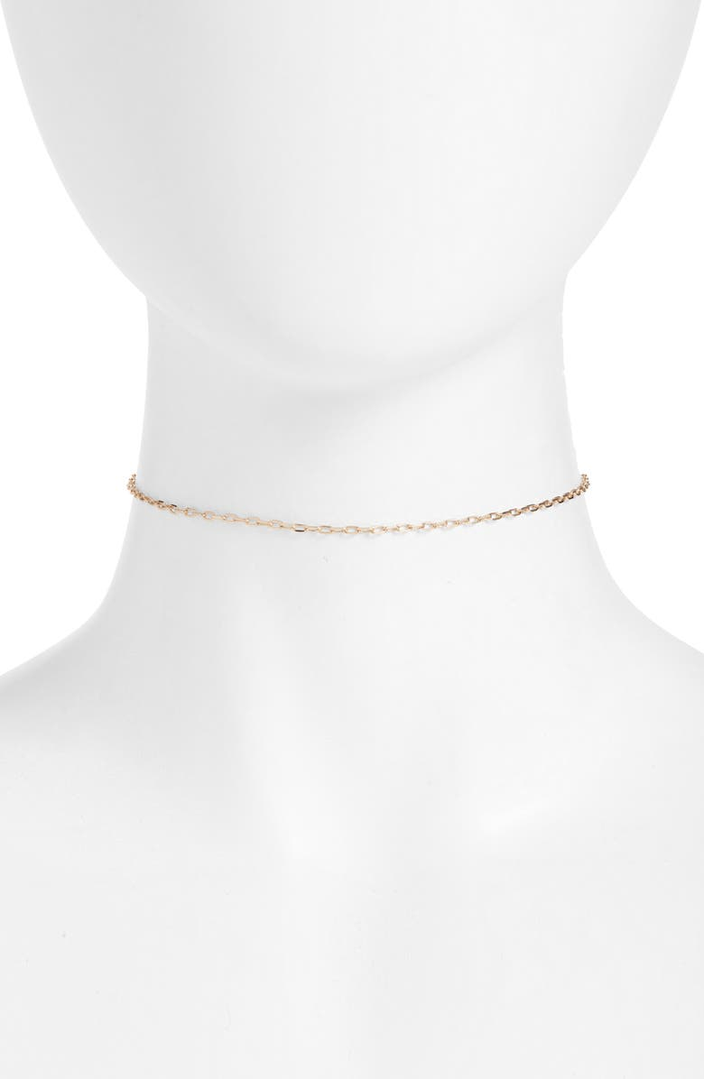 NORDSTROM Paperclip Chain Link Choker, Main, color, GOLD