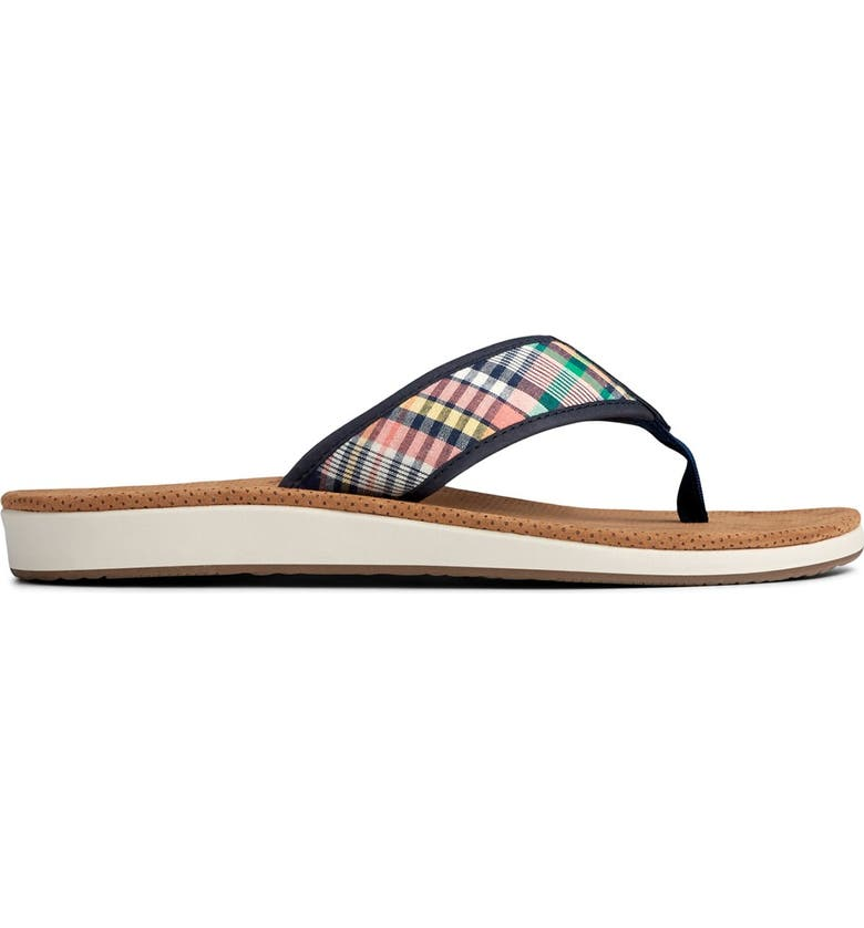 SPERRY Bayside Thong Sandal, Main, color, PLAID